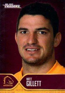 2015 NRL Traders Faces of the Game #FOTG1 Matt Gillett Broncos