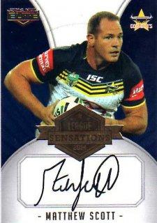 2014 NRL Elite League Sensations Signature LS4 Matthew Scott Cowboys #75/130