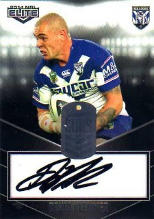2014 NRL Elite Young Gun Signature YG2 David Klemmer Bulldogs #106/130