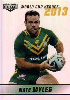 2014 NRL Elite World Cup Heroes Parallel #WCHP16 Nate Myles Titans Australia
