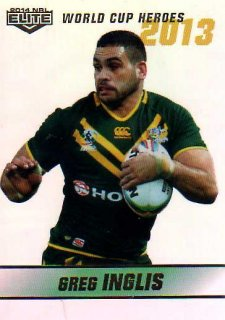 2014 NRL Elite World Cup Heroes Parallel #WCHP11 Greg Inglis Rabbitohs Australia