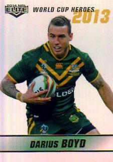2014 NRL Elite World Cup Heroes Parallel #WCHP4 Darius Boyd Knights Australia