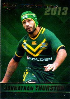 2014 NRL Elite World Cup Heroes #WCH24 Johnathan Thurston Cowboys Australia
