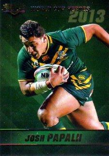 2014 NRL Elite World Cup Heroes #WCH17 Josh Papalii Raiders Australia
