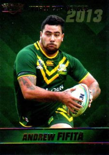 2014 NRL Elite World Cup Heroes #WCH9 Andrew Fifita Sharks Australia
