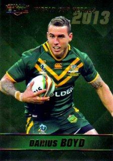 2014 NRL Elite World Cup Heroes #WCH4 Darius Boyd Knights Australia