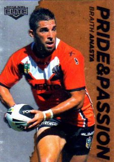 2014 NRL Elite Pride & Passion #PP46 Braith Anasta Tigers