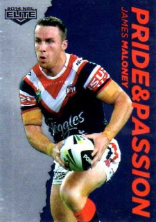 2014 NRL Elite Pride & Passion #PP40 James Maloney Roosters