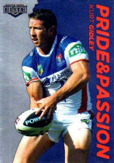 2014 NRL Elite Pride & Passion #PP22 Kurt Gidley Knights