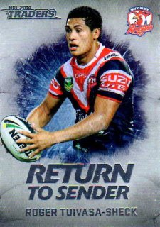 2014 NRL Traders Return to Sender #RTS27 Roger Tuivasa-Sheck Roosters