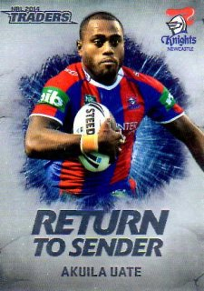 2014 NRL Traders Return to Sender #RTS16 Akuila Uate Knights