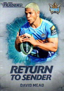 2014 NRL Traders Return to Sender #RTS10 David Mead Titans