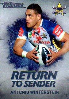 2014 NRL Traders Return to Sender #RTS8 Antonio Winterstein Cowboys
