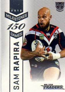 2014 NRL Traders Milestones #M15 Sam Rapira Warriors