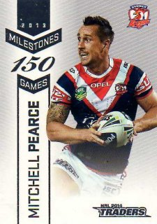 2014 NRL Traders Milestones #M14 Mitchell Pearce Roosters