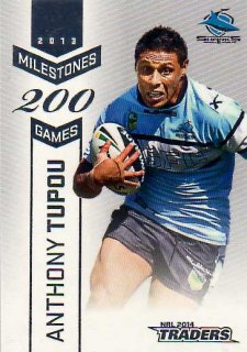 2014 NRL Traders Milestones #M11 Anthony Tupou Sharks
