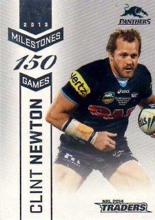 2014 NRL Traders Milestones #M10 Clint Newton Panthers