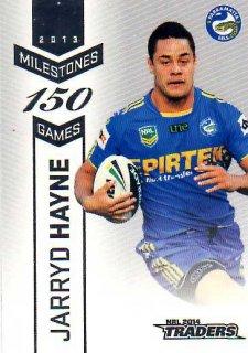 2014 NRL Traders Milestones #M9 Jarryd Hayne Eels
