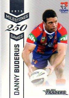 2014 NRL Traders Milestones #M8 Danny Buderas Knights