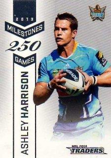 2014 NRL Traders Milestones #M5 Ashley Harrison Titans