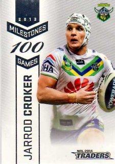2014 NRL Traders Milestones #M3 Jarrod Croker Raiders