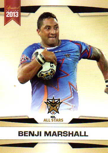 2013 NRL Limited Edition #32 Benji Marshall Tigers NRL All Stars