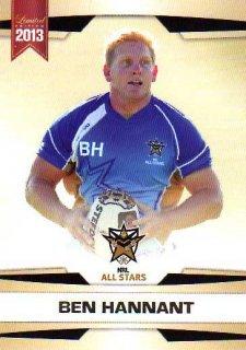 2013 NRL Limited Edition #30 Ben hannant Broncos NRL All Stars