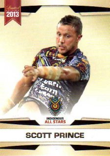 2013 NRL Limited Edition #26 Scott Prince Broncos Indigenous All Stars