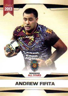 2013 NRL Limited Edition #24 Andrew Fifita Sharks Indigenous All Stars