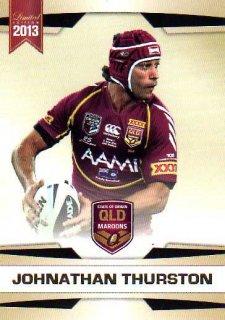 2013 NRL Limited Edition #22 Johnathan Thurston Cowboys QLD