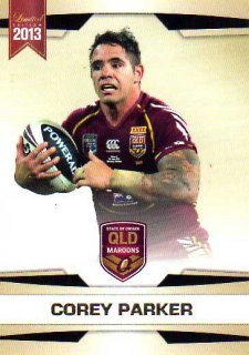 2013 NRL Limited Edition #19 Corey Parker Broncos QLD