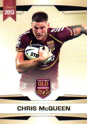 2013 NRL Limited Edition #18 Chris McQueen Rabbitohs QLD