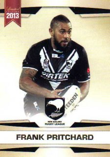 2013 NRL Limited Edition #10 Frank Pritchard Bulldogs New Zealand