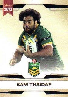 2013 NRL Limited Edition #4 Sam Thaiday Broncos Australia