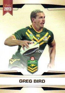 2013 NRL Limited Edition #1 Greg Bird Titans