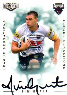 2013 NRL Elite League Sensations Signature LS10 Tim Grant Panthers #129/130