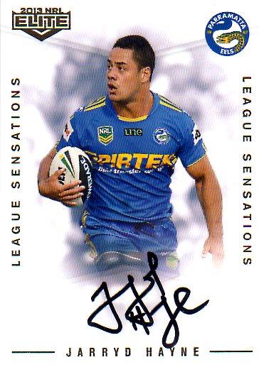 2013 NRL Elite League Sensations Signature LS9 Jarryd Hayne Eels #107/130