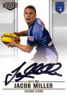 2013 NRL Elite Future Stars Signature FS17 Jacob Miller Tigers NSW #32/105