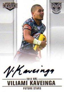 2013 NRL Elite Future Stars Signature FS15 Viliami Kaveinga Warriors #49/105