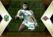 2013 NRL Elite Fast & Furious GOLD #FFS16 Blair / Koroibete Tigers