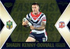 2013 NRL Elite Fast & Furious GOLD #FFS14 Hargreaves / Kenny-Dowall Roosters