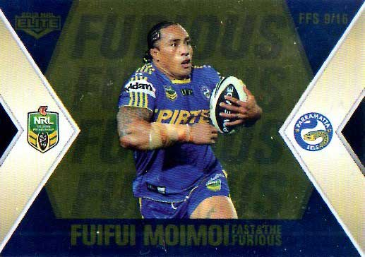 2013 NRL Elite Fast & Furious GOLD #FFS9 Moimoi / Morgan Eels