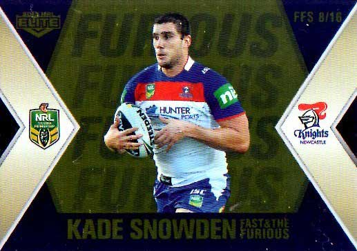 2013 NRL Elite Fast & Furious GOLD #FFS8 Snowden / Uate Knights