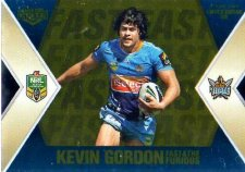 2013 NRL Elite Fast & Furious GOLD #FFS5 James / Gordon Titans