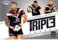 2013 NRL Elite Triple Threats TT44 Feliti Mateo Warriors