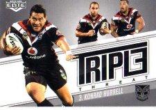 2013 NRL Elite Triple Threats TT45 Konrad Hurrell Warriors
