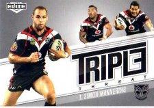 2013 NRL Elite Triple Threats TT43 Simon Mannering Warriors