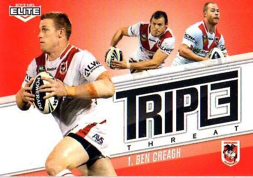 2013 NRL Elite Triple Threats TT37 Ben Creagh Dragons