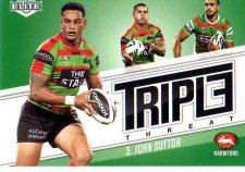 2013 NRL Elite Triple Threats TT36 John Sutton Rabbitohs