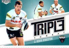 2013 NRL Elite Triple Threats TT30 Kevin Kingston Panthers